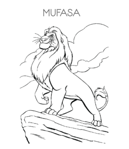 The Lion King Coloring Pages Playing Learning