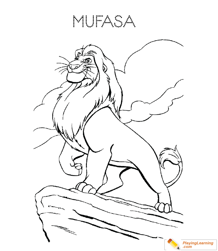 The Lion King Mufasa Coloring Page 01 Free The Lion King