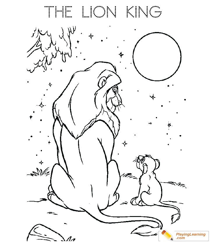 The Lion King Mufasa Simba Coloring Page 02 Free The Lion