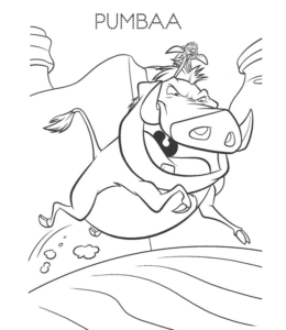 The Lion King Coloring Pages | Playing Learning