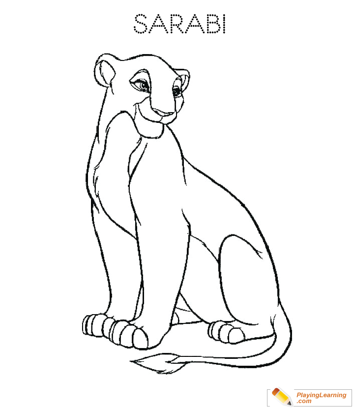 The Lion King Sarabi Coloring Page 17 | Free The Lion King ...