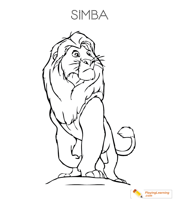 The Lion King Simba Coloring Page 03 Free The Lion King Simba Coloring Page