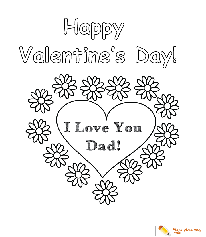 - Valentine Day Coloring Card For Dad 01 Free Valentine Day Coloring Card  For Dad