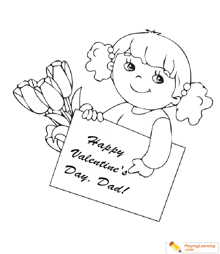- Valentine Day Coloring Card For Dad 02 Free Valentine Day Coloring Card  For Dad