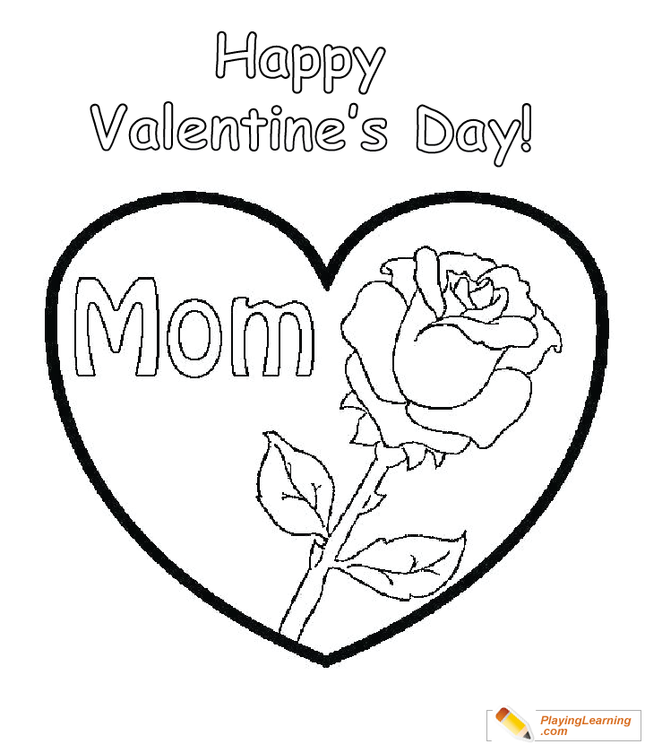 - Valentine Day Coloring Card For Mom 06 Free Valentine Day Coloring Card  For Mom