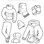 Warm Clothes Coloring Pages Playing Learning