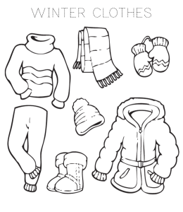 Warm Clothes Coloring Pages | Playing Learning