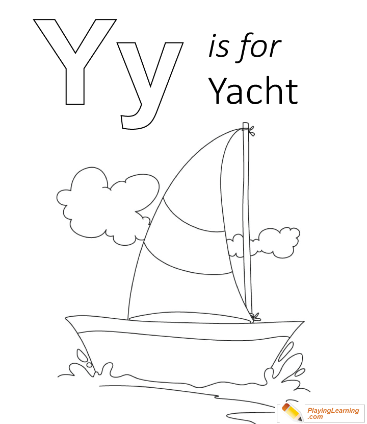 Y Is For Yacht Coloring Page Free Y Is For Yacht Coloring Page