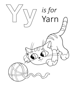 printable coloring pages y | Letter M through Z Uppercase & Lowercase Coloring ...