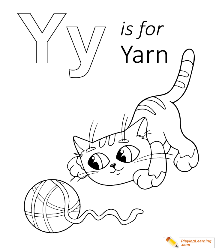 Y Is For Yarn Coloring Page | Free Y Is For Yarn Coloring Page